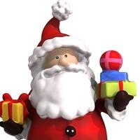 santa clause 3d max