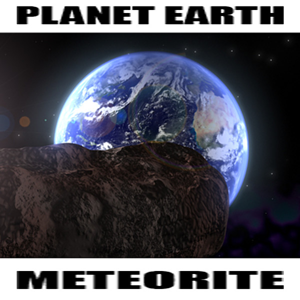 3d model space meteor earth package - Space Package... by TOSTY