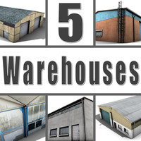 3d model 5 warehouses