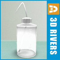 lab wash bottle 3ds