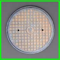 3d modeled sewer grate