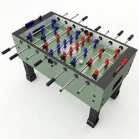 3dsmax foosball table