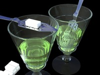 Absinthe Glass and Spoon(1)