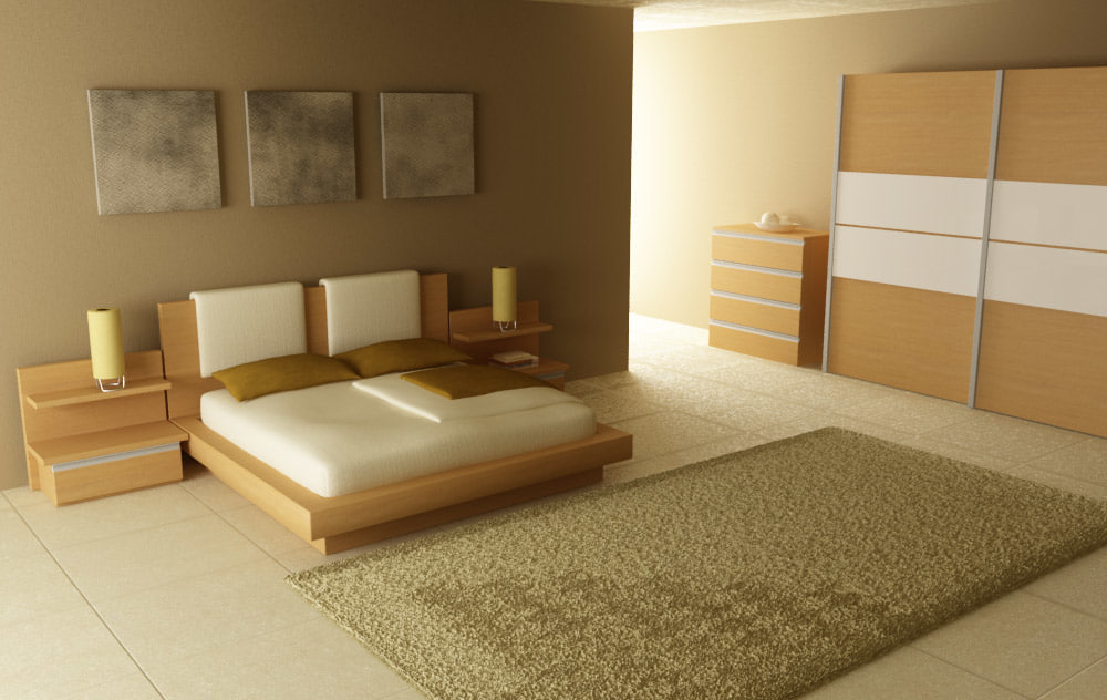 Bedroom interior 03b 3d max for 3d max interior design