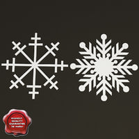 maya decoration snowflakes