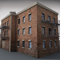 downtown building 3d model