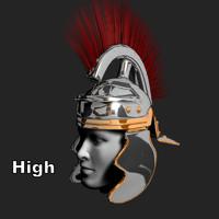 imperial roman helmet obj