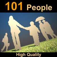People 101 Human Silhouets