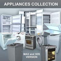 appliances freezer fridge 3d model