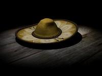 3d sombrero mexican model