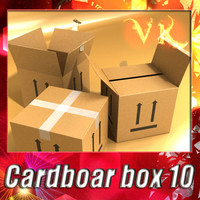 Photorealistc Cardboard Box  + High Resolution Textures