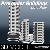 maya buildings polys prerendered
