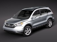 honda crv cr-v suv 3d model