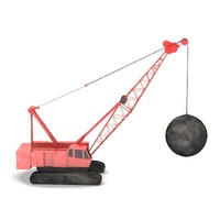 demolition crane 3d model