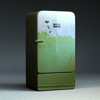 3d model of old fridge