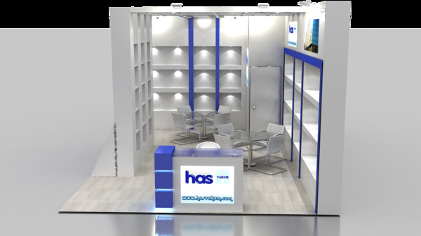 fair stand exhibition 3d model - fair stand exhibition 23... by candasvural