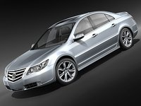 honda legend sedan 3d model