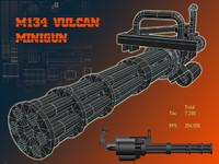 machine m134 vulcan 3d model