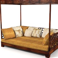 Oriental seat sofa bed traditional