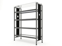 Glass Etagere Shelves 1 - vray materials