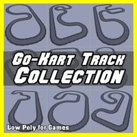 Low Polygon Go-Kart Track Collection