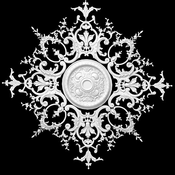 3d model plaster ceiling medallion - plaster ceiling medallion rose... by archstyle