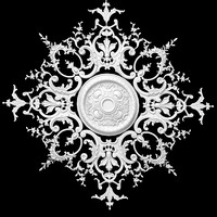 3d model plaster ceiling medallion