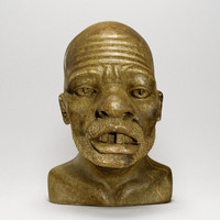 african male bust zulu 3d model