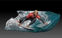 3d diorama surf model