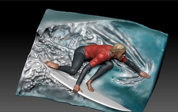 3d diorama surf model - Australian surfer... by xabier lobato