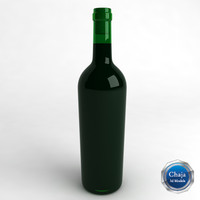 bottle wine 3d 3ds