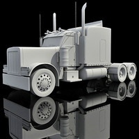 american truck 3d model