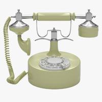 retro phone 3d max
