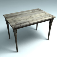 realistic wooden table desk max