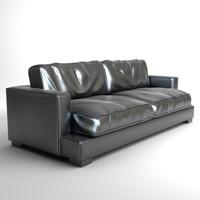 black sofa 3d max