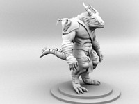 3d character creature dino model
