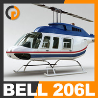 Helicopter - Commercial Bell 206L with Interior