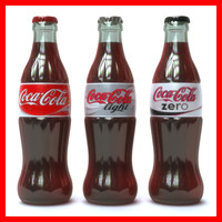 3d coca cola bottles pack