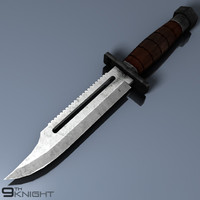 combat knife 3d 3ds
