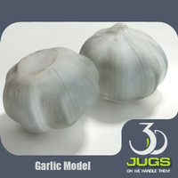 3d model of garlic bulb