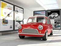 3d mini showroom cars model