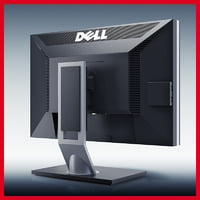 3d model professional monitor dell ultrasharp