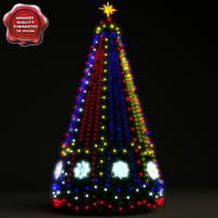 new year tree v9 3d model