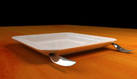 fork dish 3d model