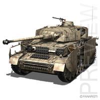 3d - iv panzer tank