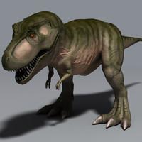rex tyrannosaurus 3d max