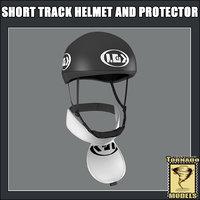short track helmet protector 3d model