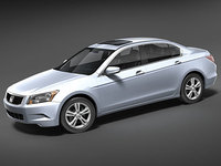 3d model honda accord sedan usa