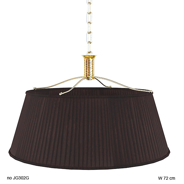 baker couronne classic pendant chandelier lamp round pleated shade empire