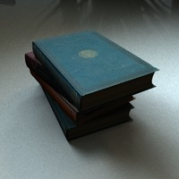 3d model old books